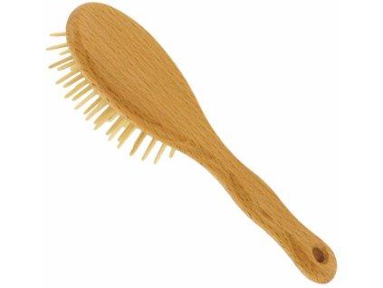 Förster´s vlasový kartáč z FSC certif. bukového dřeva - se špičatými dřevěnými ostny - malý 1ks