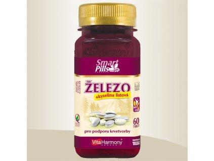 Železo 20 mg s kys. listovou - SmartPills, dvouvrstvá tableta - 60 tbl.