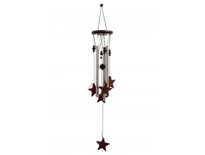 Zvonkohra kov+dřevo Hvězdy 60cm