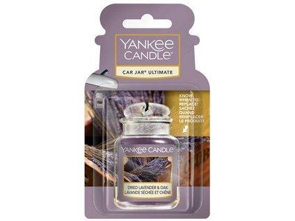 Yankee Candle Dried lavender Oak luxusní visačka do auta 1 ks