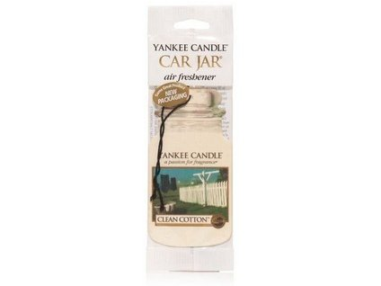 Yankee Candle Clean cotton papírová visačka do auta 1 ks