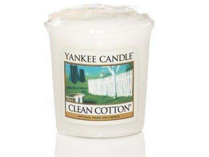 VONNÁ SVÍČKA Yankee Candle votivní svíčka Clean cotton 49 g