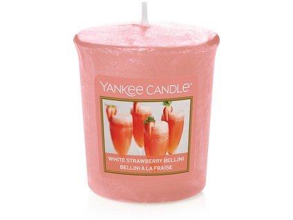 VONNÁ SVÍČKA Yankee Candle votivní svíčka White strawberry bellini 49 g