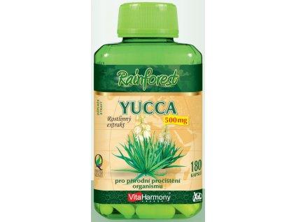 XXL balení - Yucca 500 mg 180 tbl. + Papája, směs enzymů - 90 cumlavých tbl.