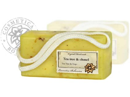 Mýdlo závěsné glycerinové Tea Tree a chmel 200g ,1ks