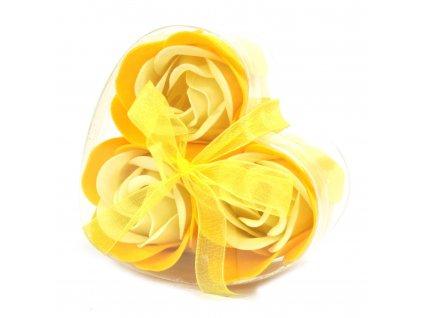 Mýdlové květy žlutá růže-sada 3ks 17g