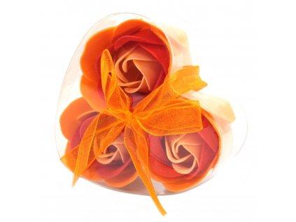 Mýdlové květy broskvová růže-sada 3ks 17g