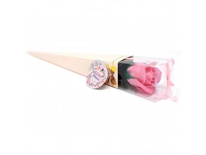 Mýdlové květy růže v krabičce 1 ks