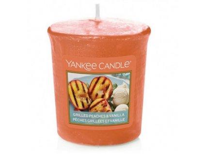 grilled peaches vanilla votivni svicka