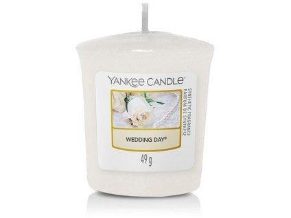 VONNÁ SVÍČKA Yankee Candle votivní svíčka Wedding day  49 g dárková krabička