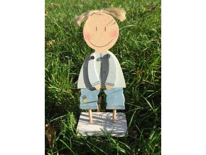 Dřevěná figurka chlapeček 21,5 cm