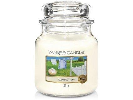 VONNÁ SVÍČKA Yankee Candle Clean Cotton 411g