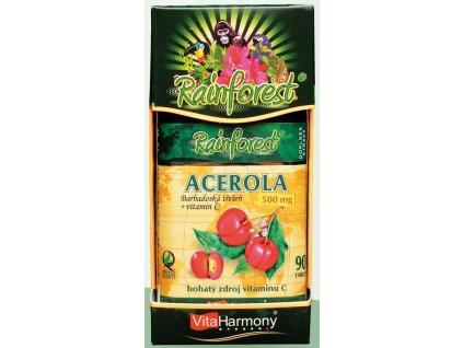 RainForest® Acerola 500 mg & Vitamin C 250 mg - 90 tbl.