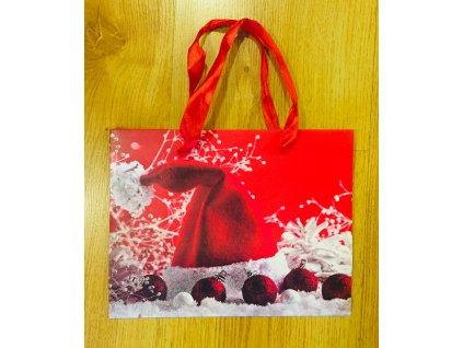 Vánoční papírová dárková taška 23 x 28 x 10 cm