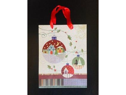 Vánoční papírová dárková taška 18 x 23 x 10 cm