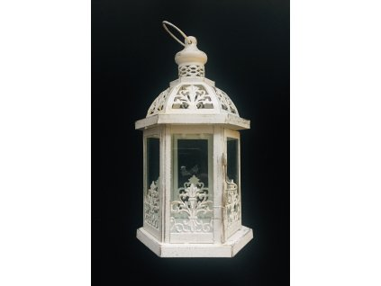Lucerna plech oprýskaný efekt s ornamenty 1 ks