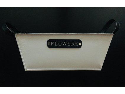 Plechový květináč 1 ks