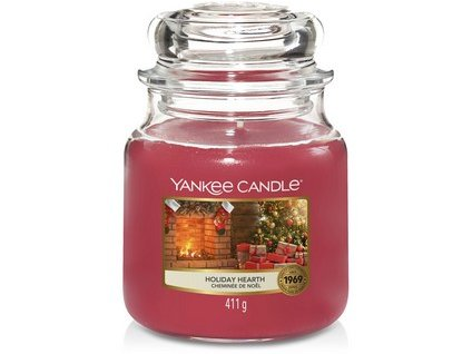 VONNÁ SVÍČKA Yankee Candle Holiday Hearth 411g
