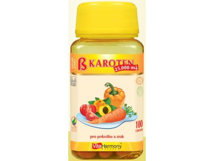 Beta karoten 25.000 m.j. (15 mg) - 100 tbl.