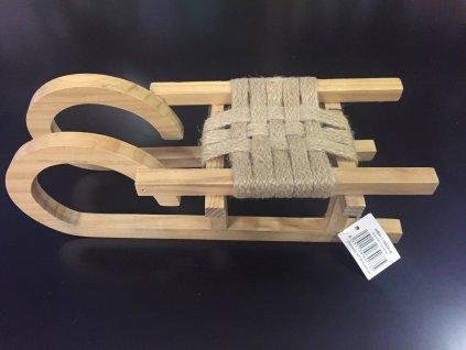 Dřevěné sáňky 28 cm