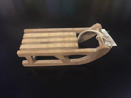 Dřevěné sáňky 13 cm