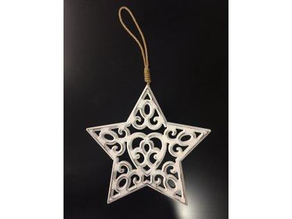 Vánoční dřevěná hvězda 30 cm