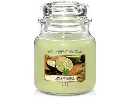 VONNÁ SVÍČKA Yankee Candle Lime and Coriander 411g