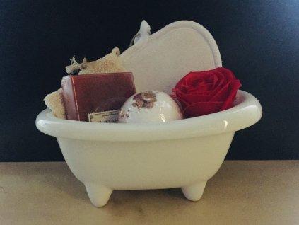 Koupelová dárková sada ve vaničce 1 ks