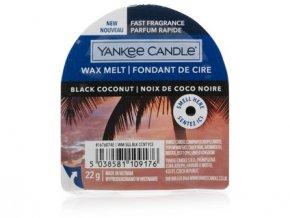 Yankee Candle vonný vosk do aromalampy nový BLACK COCONUT  22g