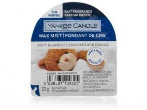 Yakee Candle vonný vosk do aromalampy nový SOFT BLANKET  22g