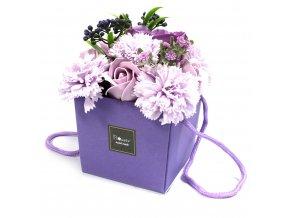 Mýdlové květy -Levandulové růže a karafiáty 1ks