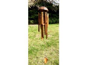 Bambusová zvonkohra menší 6 trubic
