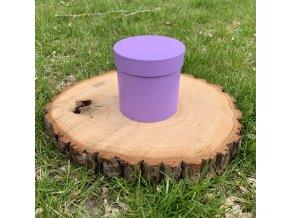 Dárková krabička kulatá fialová 1 ks