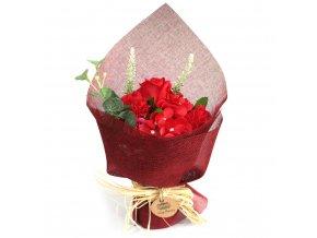 Mýdlová kytice červená