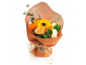 Mýdlová kytice oranžová 1ks
