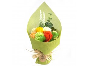 Mýdlová kytice zelená