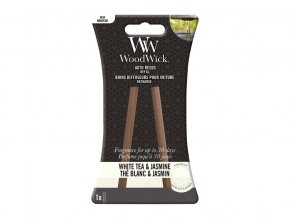 Woodwick náhradní vonné tyčinky do auta White Tea & Jasmine
