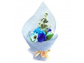 Mýdlová kytice modrá 1ks