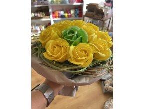 Mýdlová kytice růže  1ks