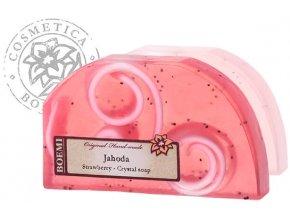 Mýdlo křišťálové peelingové JAHODA 100g