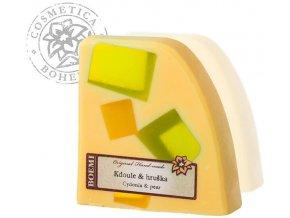 Mýdlo křišťálové s jogurtem KDOULE A HRUŠKA 120g