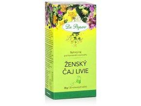 Bylinný čaj ŽENSKÝ ČAJ LIVIE pro hormonální rovnováhu - 30g (20 sáčků)
