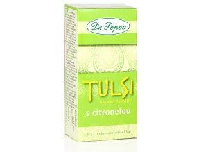 Bylinný exotický čaj TULSI S CITRONELOU - bazalka posvátná - 30g (20 sáčků)