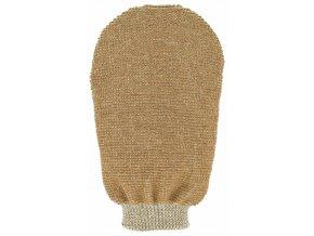 Masážní rukavice - bio len - 2 strany s 2 hrubostmi