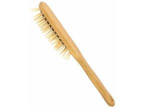 Vlasový kartáč z bukového dřeva se špičatými dřevěnými ostny - oválný