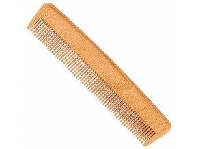 Vlasový hřeben z bukového dřeva s jemnými hustými zuby