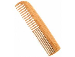 Vlasový hřeben z bukového dřeva s dvojí hustotou zubů