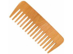 Vlasový hřeben z bukového dřeva s řídkými zuby - široký