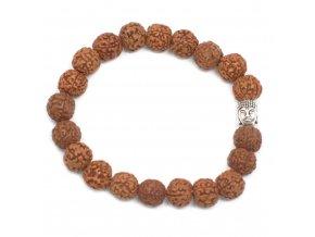 Budha náramek rudraksha hnědý 1ks