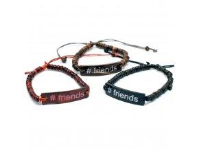 Kokosový Náramek se Sloganem - #Friends 1ks